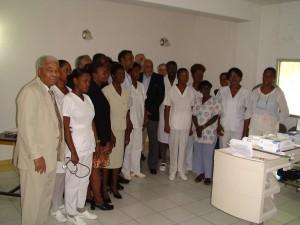 Motion - Mise en place du SAMU à Port au Prince : médecins et personnel médical ayant suivi les modules de formation de renforcement de soins d'urgence