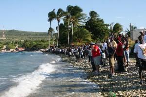 Motion - Spectateurs pour admirer la course de voile, organisée par Motion Section locale